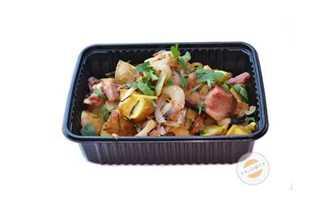 Afbeelding van Aardappeltjes met spek en ui